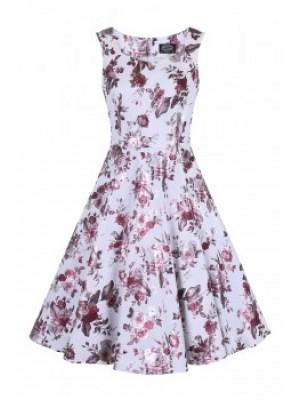 Metallic Rose Dress