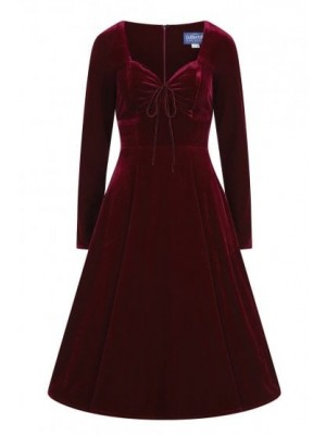 Burgundy Velvet Dress