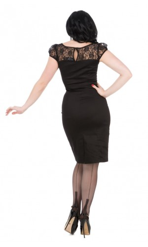 Black Lace Wiggle Dress