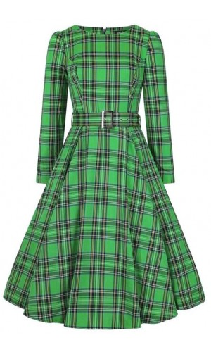 Green Tartan Dress