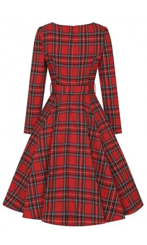 Red Tartan Dress GR.42 SALE
