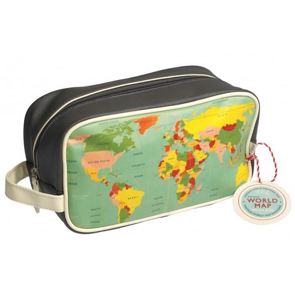 """Wash Bag """"World Map"""""""