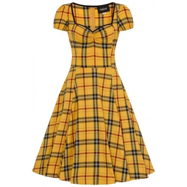 Yellow Tartan Dress
