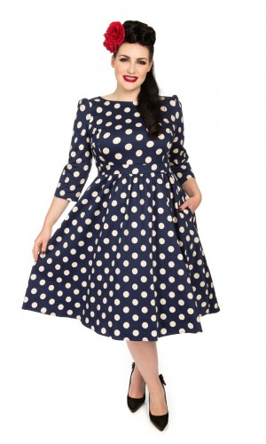 Swing Polka Dot Dress GR.48,50,52 SALE