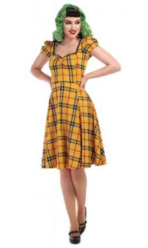 Yellow Tartan Dress