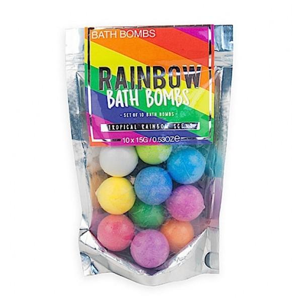 Regenbogen Badebomben