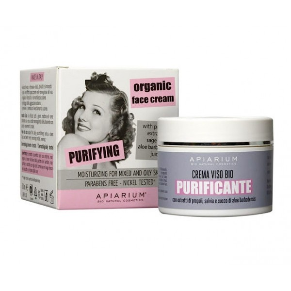 Purifying Organic Face Cream for mixed and oily skin 50ml
